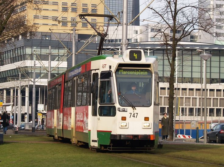 Tram type ZGT-6 made by Düwag, Germany