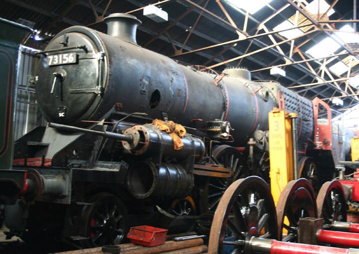 73156, BR Standard Class 5 4-6-0 in maintenance