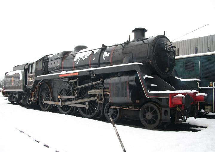BR Standard Class 5 4-6-0 73050 in mid-winter