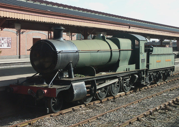 2885, GWR Class 28XX 2-8-0 as a static exhibit