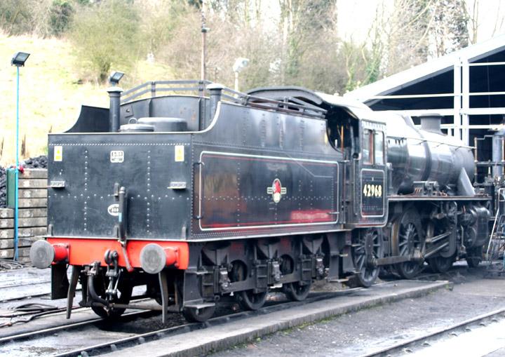 42968, BR 5MT Class 4-6-0 at Bridgnorth shed