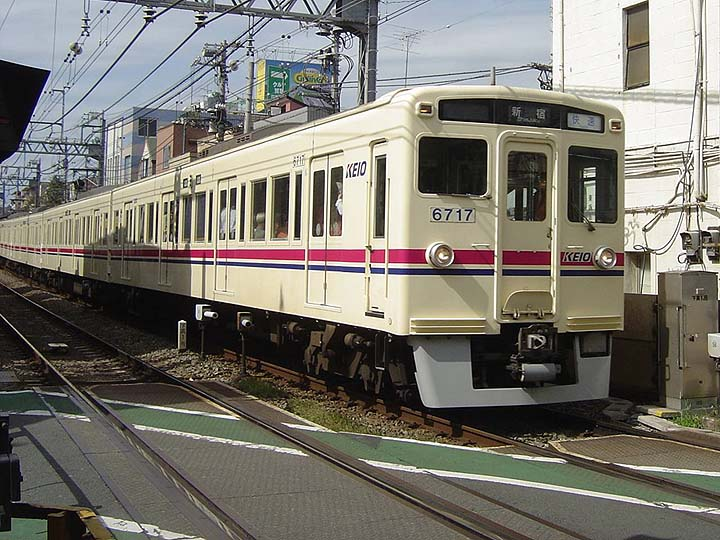 Image of a train from Keio line Tokyo