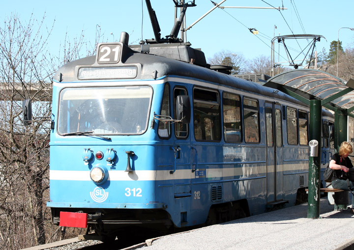 SL type A30B motor tram no. 312