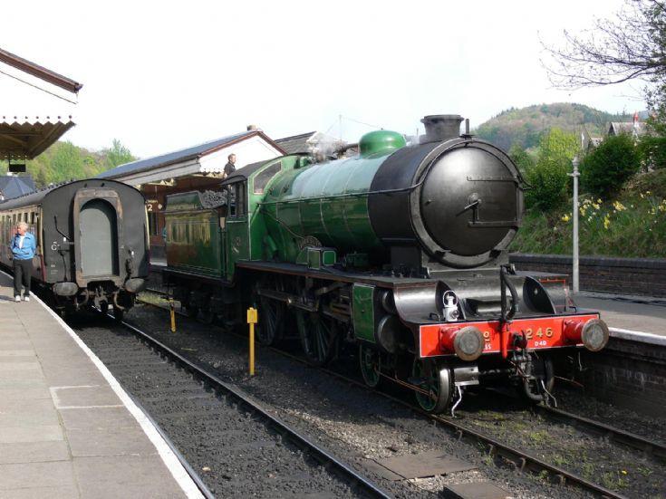 Steam locomotive Morayshire at Llangollen