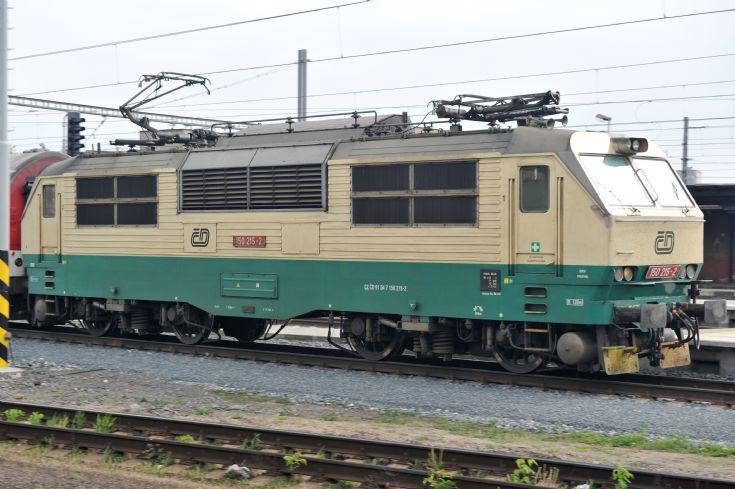 CD electric locomotive seen at Kolin