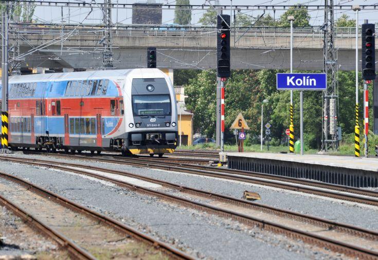 Double decker passenger train