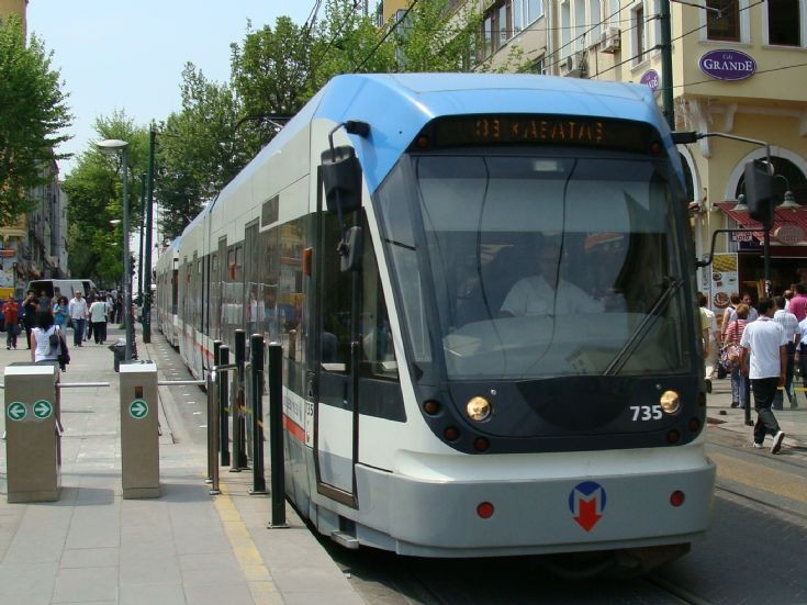 Istanbul Tramway number 735