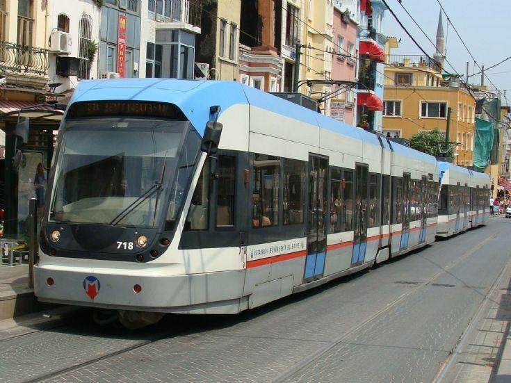 Istanbul, Turkey, tram 718