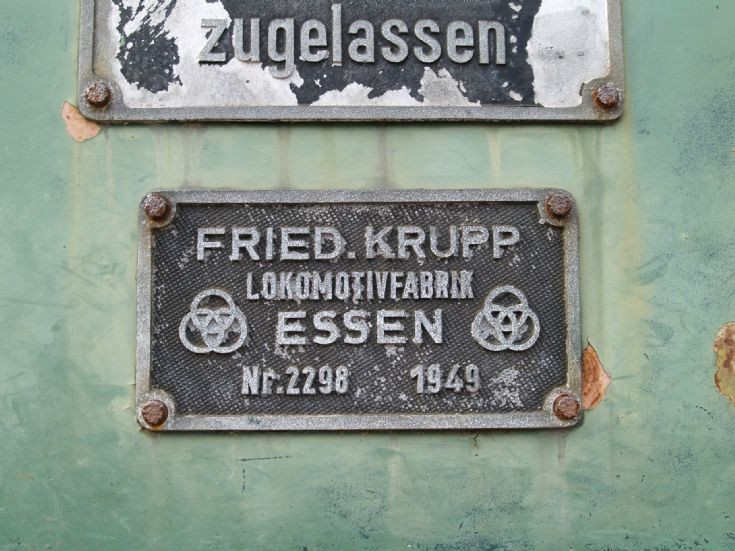 Engine plate detail photograph