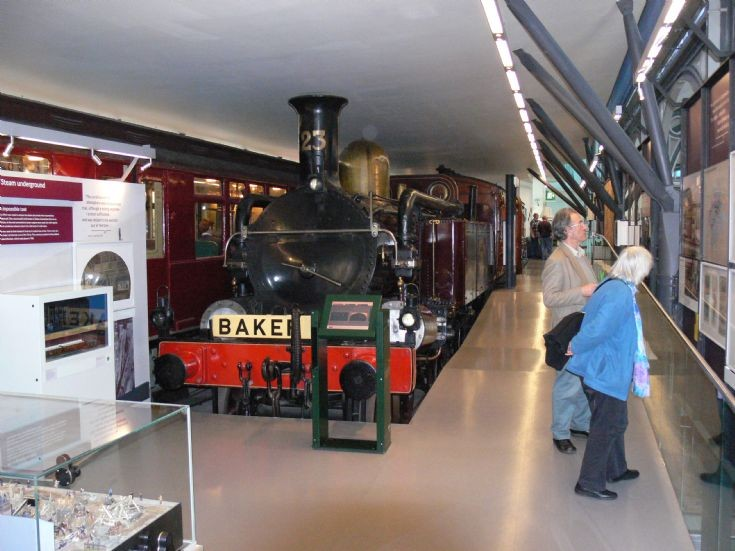 4-4-0T steam locomotive at Transport Museum