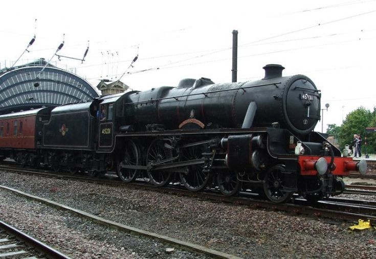 Steam locomotive 45231 Sherwood Forester