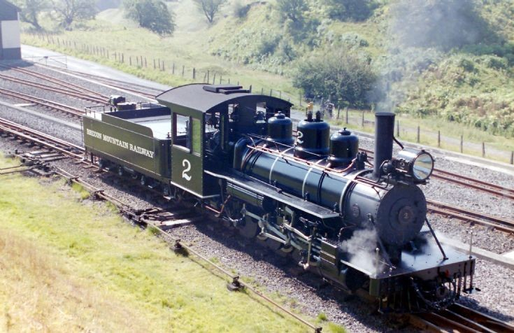 American steam locomotive in Wales