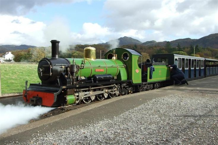 narrow gauge steam locomotive River Irt