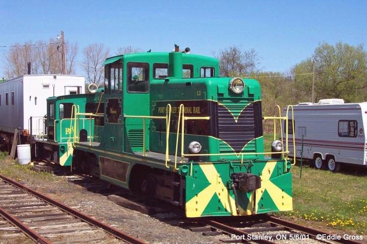 Locomotive at Port Stanley, Ontario