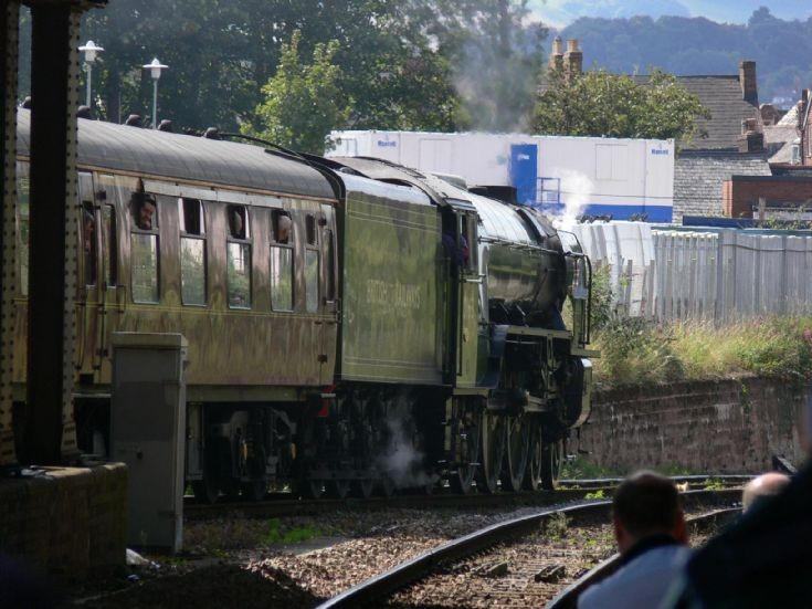 Tornado leaving Exeter Central