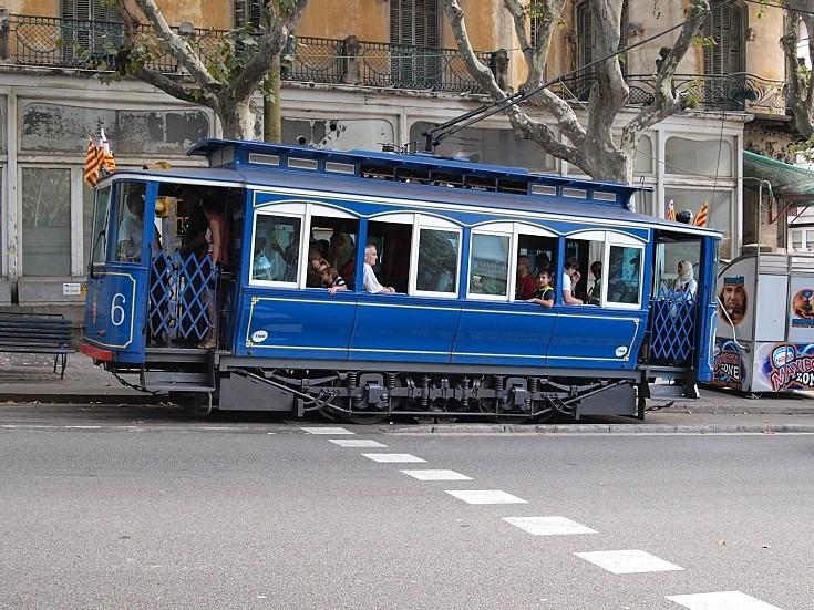 Old tram in Barcelona