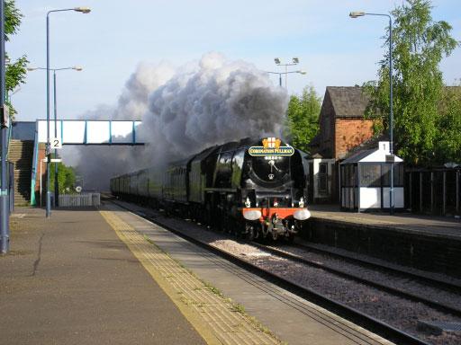 Dutchess of Sutherland passing Spondon Station