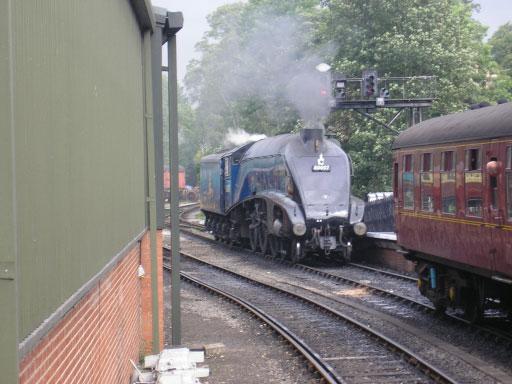 Steam Locomotive Sir Nigel Gresley at Pickering