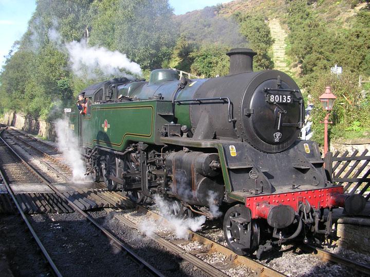80135 Steam locomotive Goathland North Yorkshire