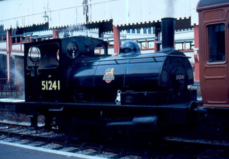 Preserved small steam locomotive