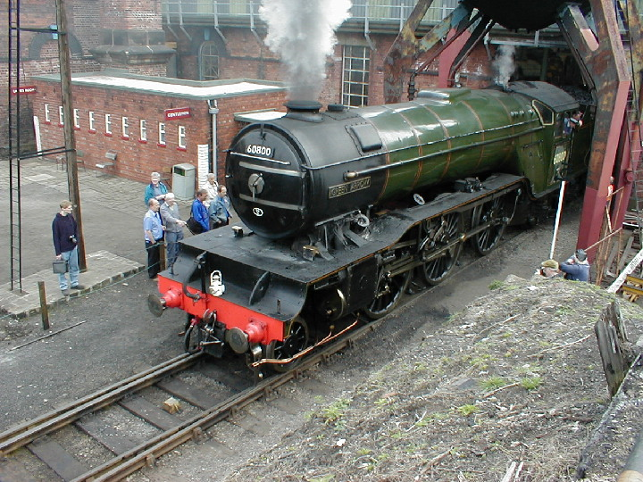 Green Arrow at the Barrow Hill  Roundhouse