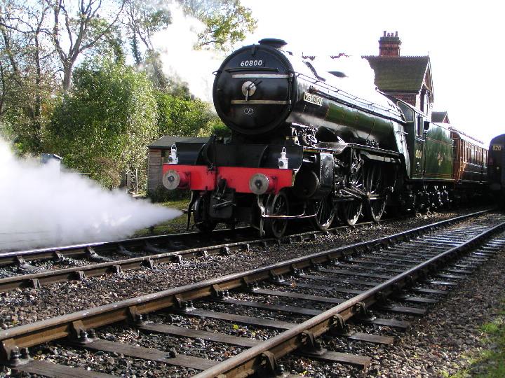 Green Arrow steamlocomotive at  Bluebell Railway