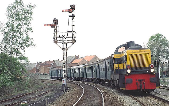 SNCB/NMBS 7101 at Leopoldsburg