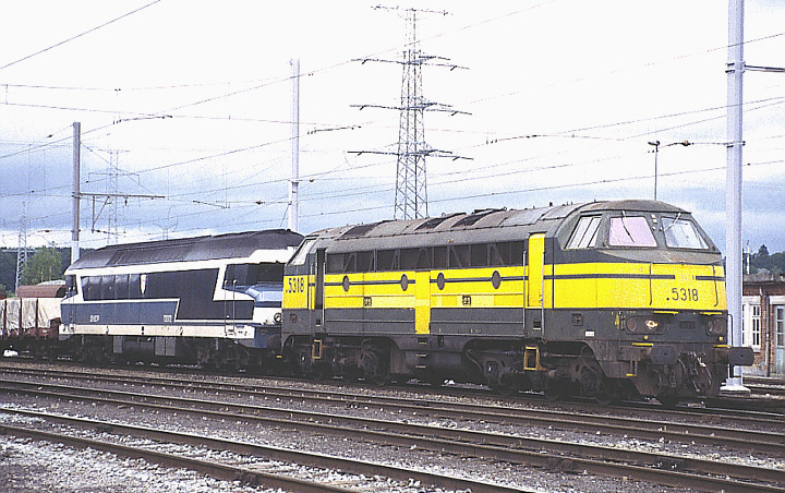 SNCB/NMBS 5318 + SNCF CC 72072