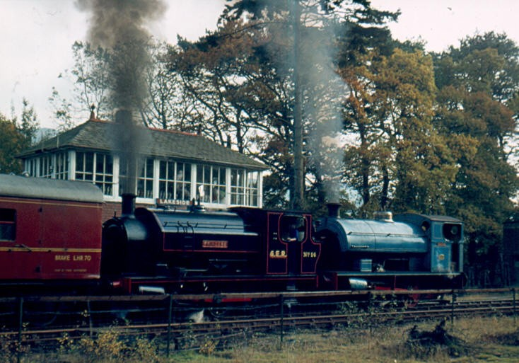 Steam locomotives at Lakeside