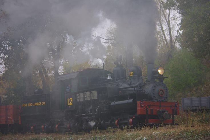 Shay #12 at Colorado Railroad Museum