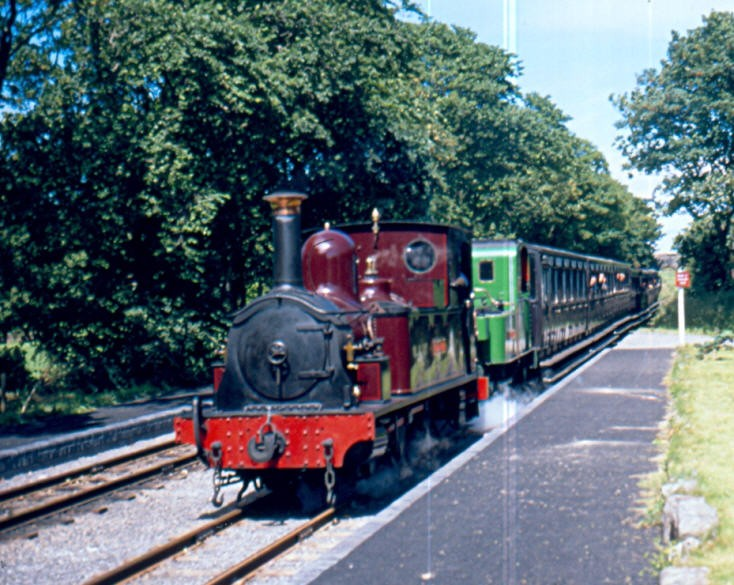 Number 15 Caledonia at Castletown station