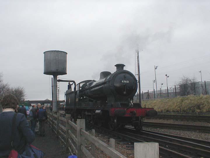 63601 taking water at Loughborough