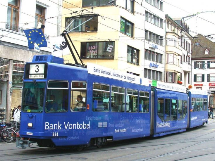 Tram car 684 in Basel
