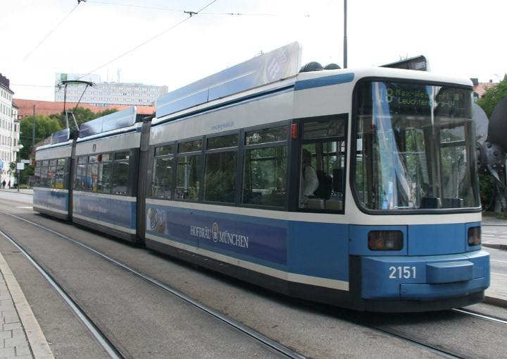 Adtranz Class 2.2 tram no. 2151 in Munich