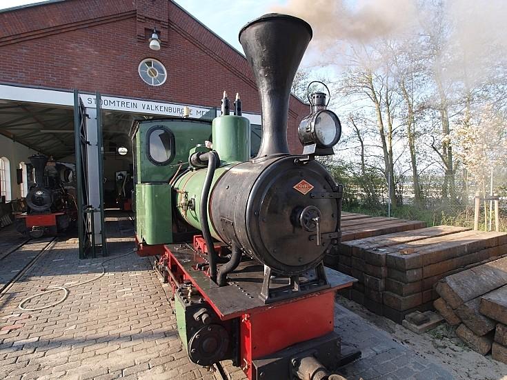 Steam locomotive at 'Stoomtrein Valkenburgse Meer'