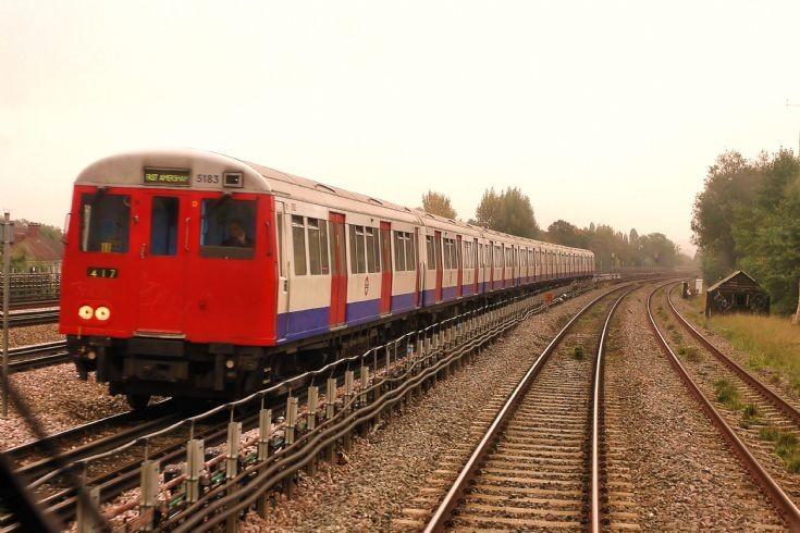 TFL Metropolitan Line A-stock train.