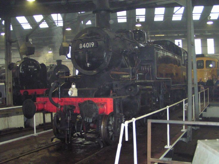 On the turntable at Barrowhill