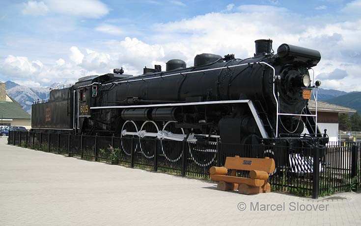 Steam locomotive 6015 Jasper Canada.
