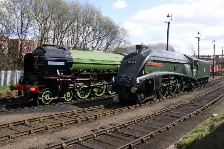 60532 and 60009 at Barrowhill