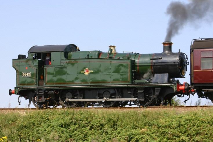 GWR 0-6-2T 5643 on the North Norfolk Railway