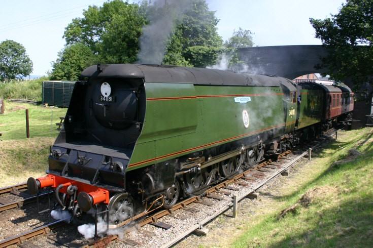 34081 on the North Norfolk Railway